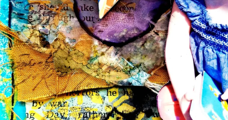Welcome the Ecstatic Experience : Mixed Media Layout