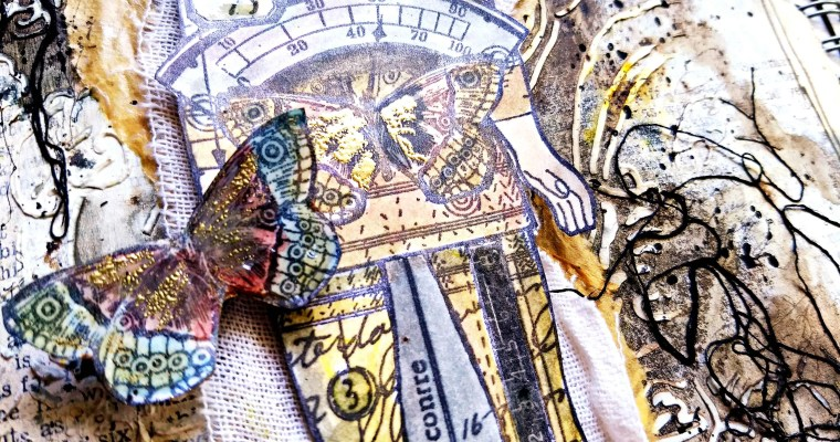 I Can See Clearly : Mixed Media Mail Art