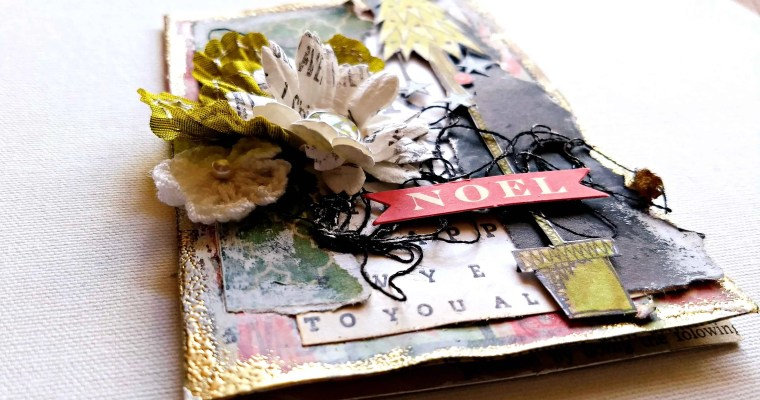 Everyone Needs Some Down Time: Mixed Media Christmas Card