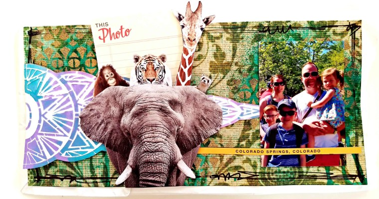 My Square Foot Zoo: Mixed Media Travel Journal