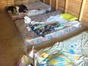 Our bedroom in Mancora that we shared with a mouse!