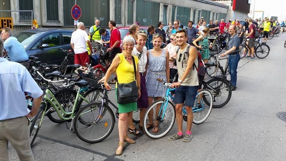 Fahrraddemo in München