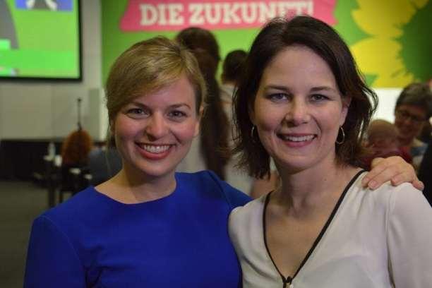 Katharina Schulze und Annalena Baerbock: Grüne Powerfrauen.