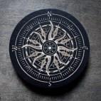 Compass, dark version - Wood Coaster