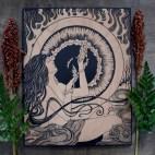 "Fire Elemental - 11x14"" Wood Engraving"