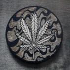 Cannabis Leaf - Wood Coaster