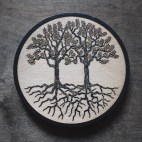 A Pair of Trees - Wood Coaster
