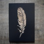 """Feather - 4x6"""" Wood Engraving"""