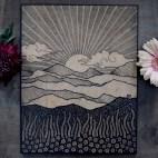 """Sunrise - 11x14"""" Wood Engraving"""