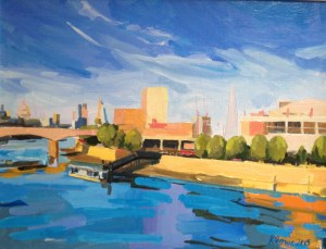 Southbank London painting
