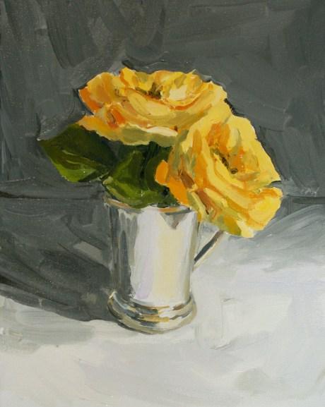 Yellow roses, 34x40cm framed, £450