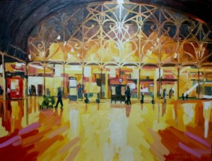 Paddington Station painting