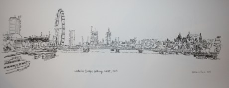 From Waterloo Bridge looking West (labelled)