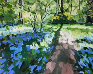 Bluebells in Isabella plantation, 50x40cm unframed, £600