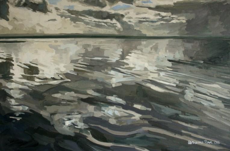 Low October tide at Saunton Sands, 90x60cm unframed, £750