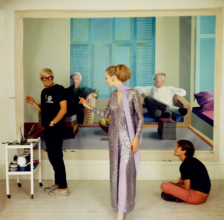 David-Hockney,-Peter-Schlesinger-and-Maudie-James-by-Cecil-Beaton,-1968