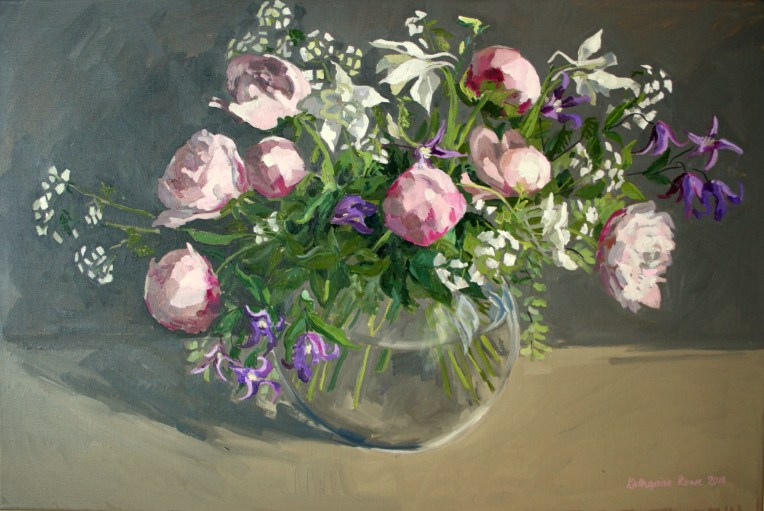 Spring flowers, 90x60cm unframed, £700
