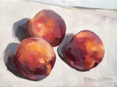 Peaches 18x14cm Commission