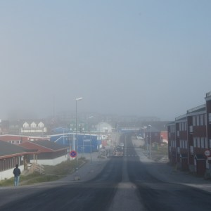 ulica Nuuk o 7 rano