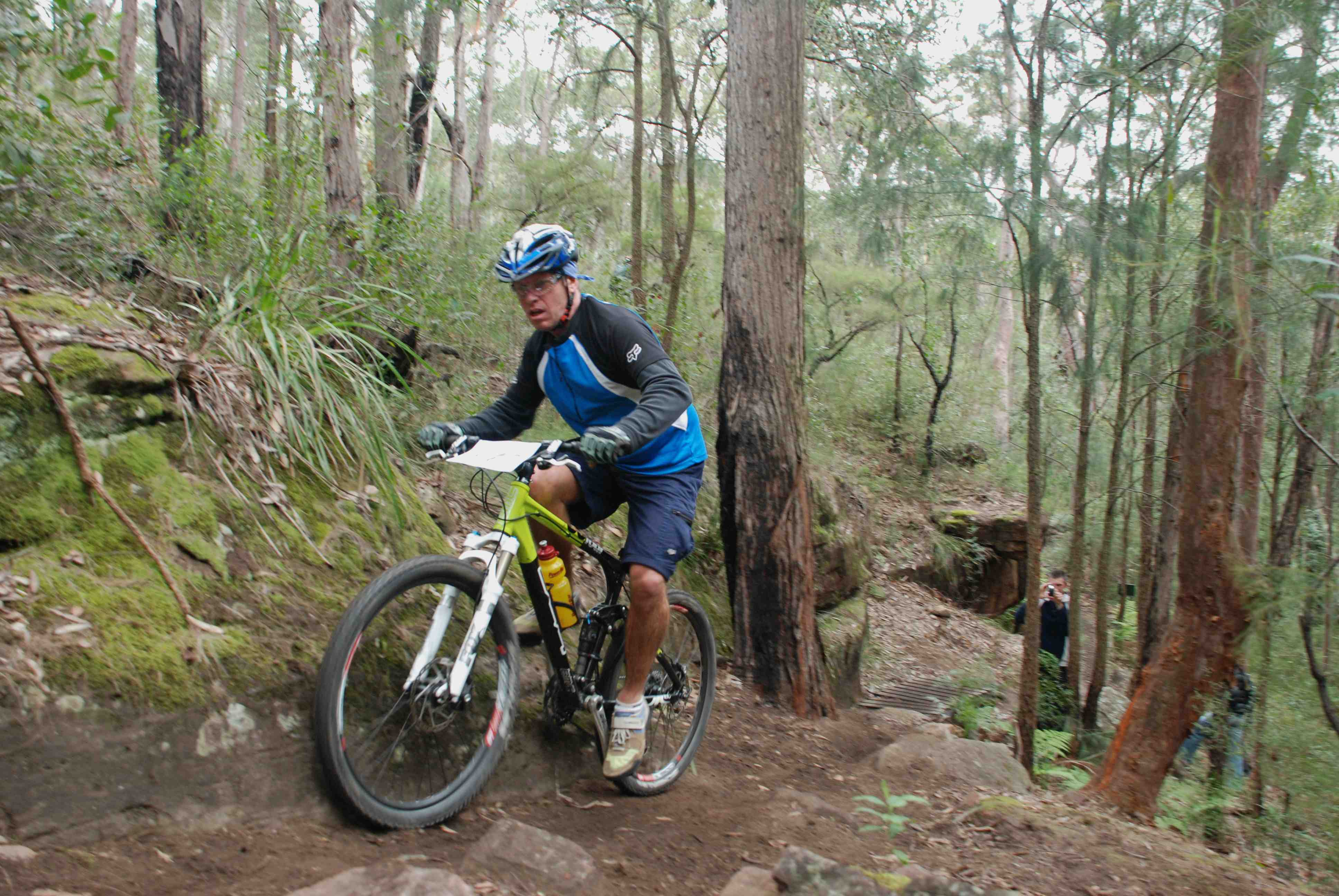 Steve Robinson powered up the long course climb on one of the BMC demo bikes available this weekend.