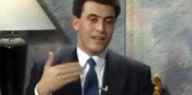 لقاء نادر للقيصر كاظم الساهر في تلفزيون الكويت عام 1990
