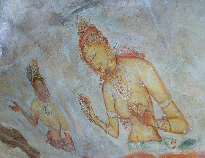 779px-Sigiriya_frescoes