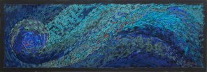 "Swirling Water 26"" x 8.75"""