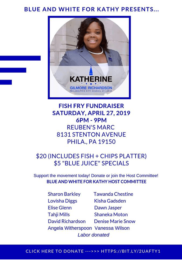 Katherine for Philly Fish Fry Fundraiser