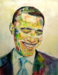 Obamarama Oil on Canvas 28x36 2012 FOR SALE