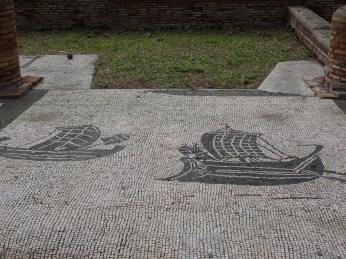 Mosaics of ships at merchants' guilds, Ostia