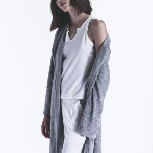 lux terry robe, frankie top, pull on pant