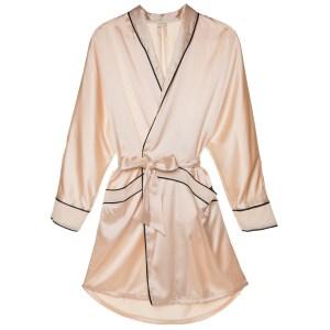 Cosabella Sophisticated Robe, Blush/Black
