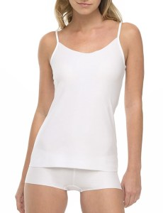 cotton cami, white