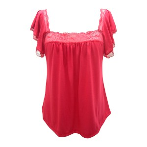 Cassandra Flutter Sleeve Cami, Red Passion