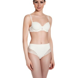 Delice 3D Demi Molded Cup Bra, White (Ivory)