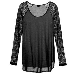 Arizona Sleep Long Sleeve Top, Black