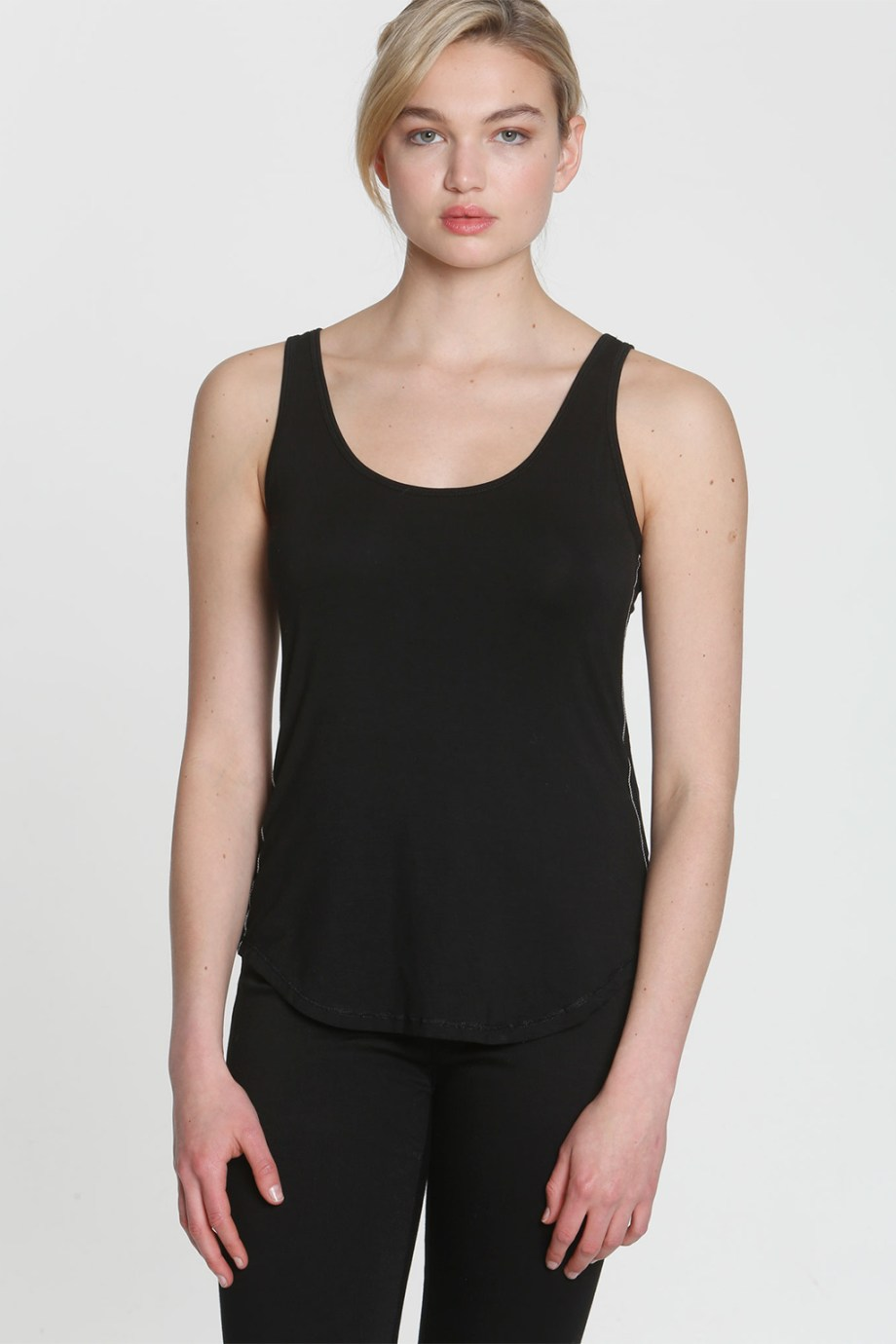3246 SIMPLY SOFT SHIRTTAIL TANK black