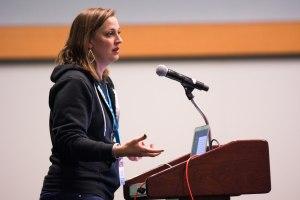 Katherine White speaking at WCUS 2017