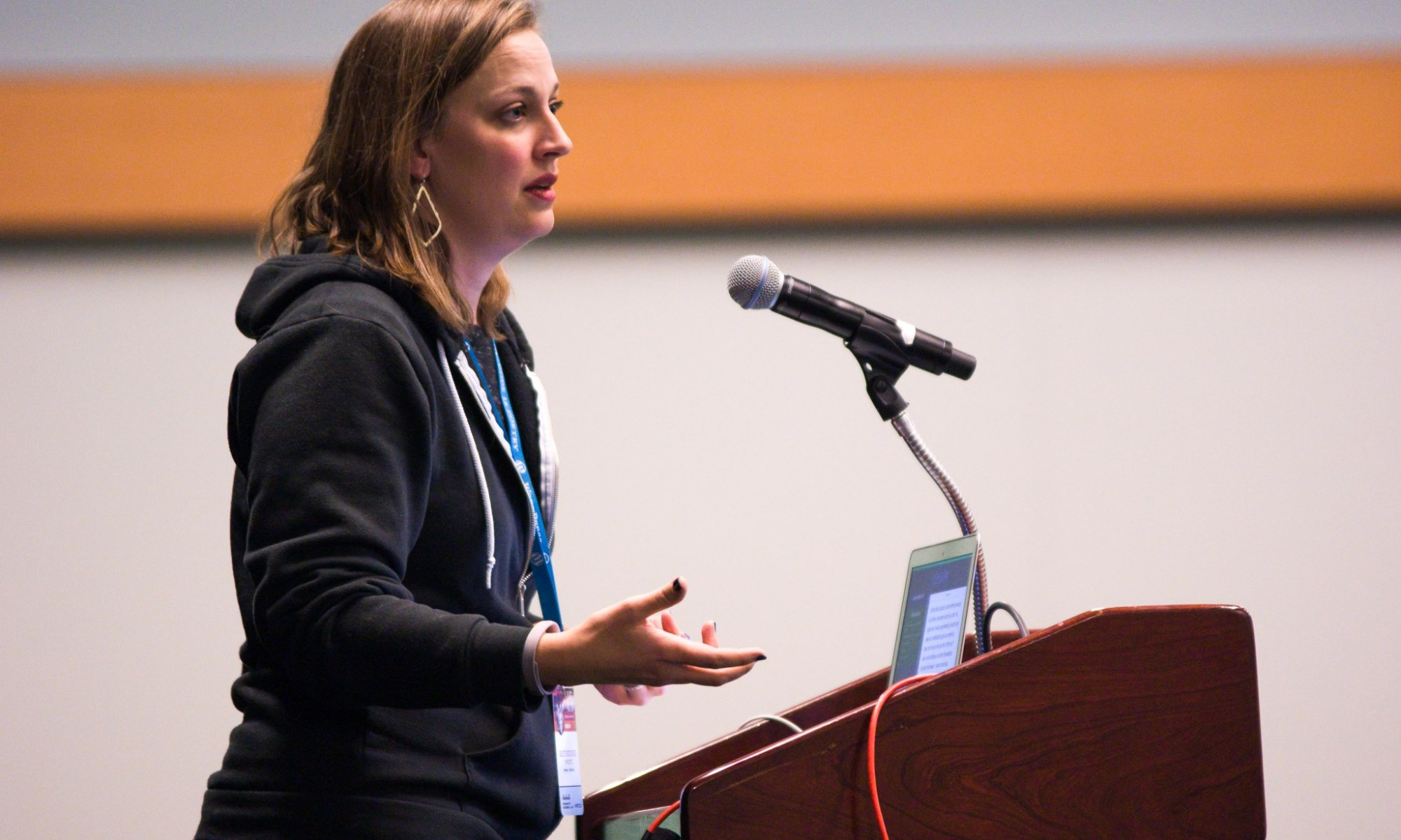 Katherine White speaking at WCUS 2017