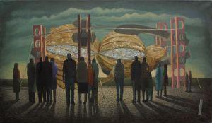 2014, Oil on canvas, 64cm x 39cm