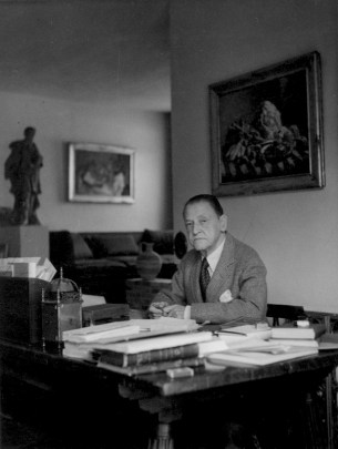 W. Somerset Maugham, Portrait by Tom Blau, 1950.