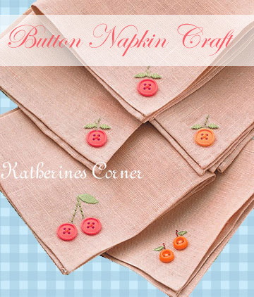button napkin craft katherines corner
