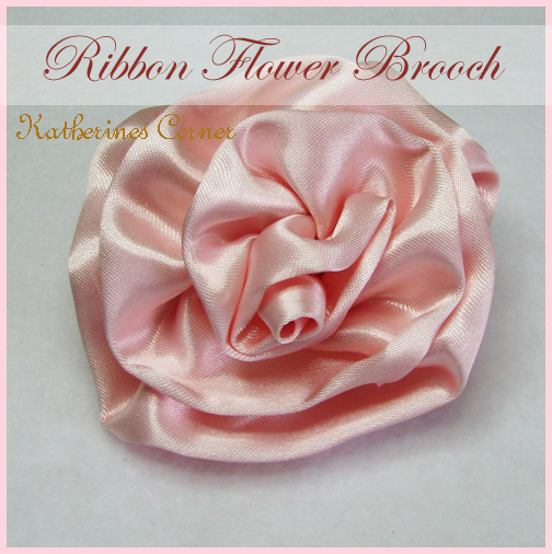 ribbon flower brooch katherines corner