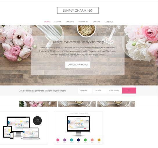 charming blog design