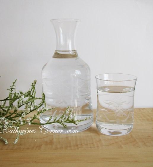 crystal water carafe katherines corner