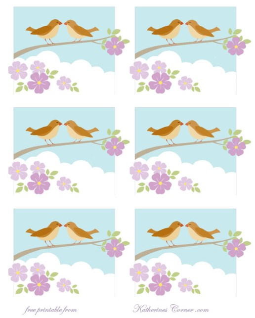 free bird printable labels katherines corner