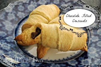 chocolate filled crescents