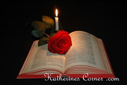 bible and candle katherines corner