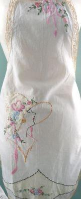 embroidered apron seaside rose garden flicker
