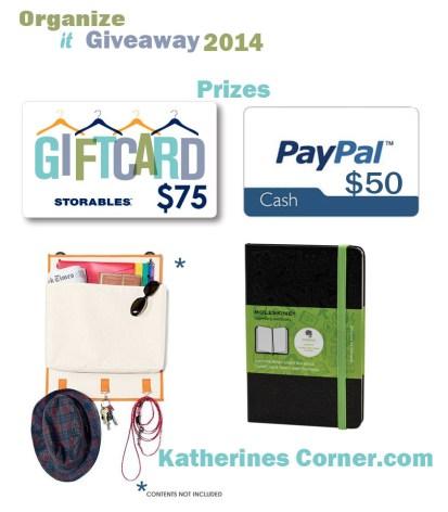 organize it giveaway prizes